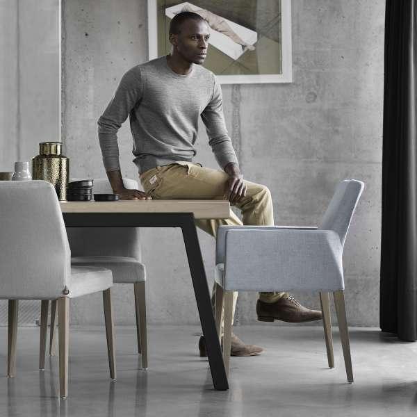 Table de salle à manger moderne en bois et métal - London Mobitec® - 8