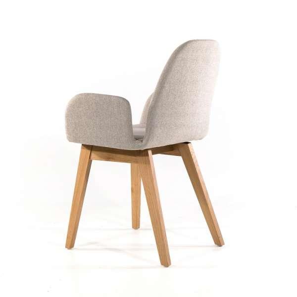 Fauteuil scandinave gris clair avec pieds en bois massif - Puccini Mobitec® - 15