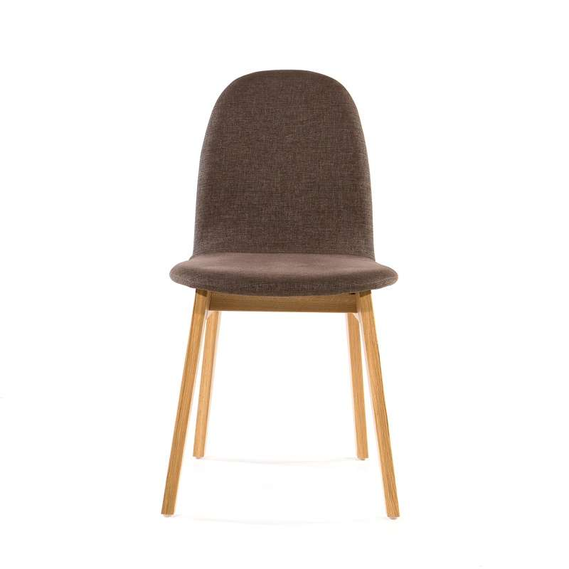 Chaise scandinave en bois et tissu Puccini Mobitec®