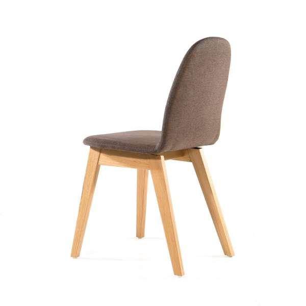 Chaise en tissu marron et pieds en bois - Puccini Mobitec® - 13
