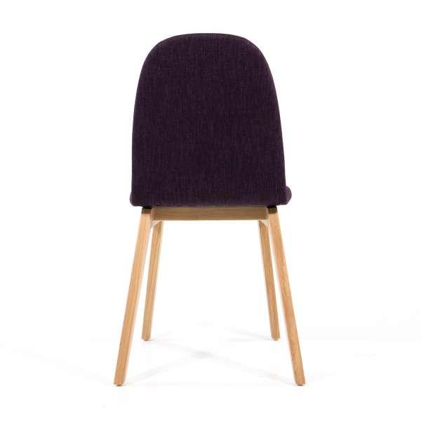 Chaise en tissu violet et pieds en bois - Puccini Mobitec® - 3