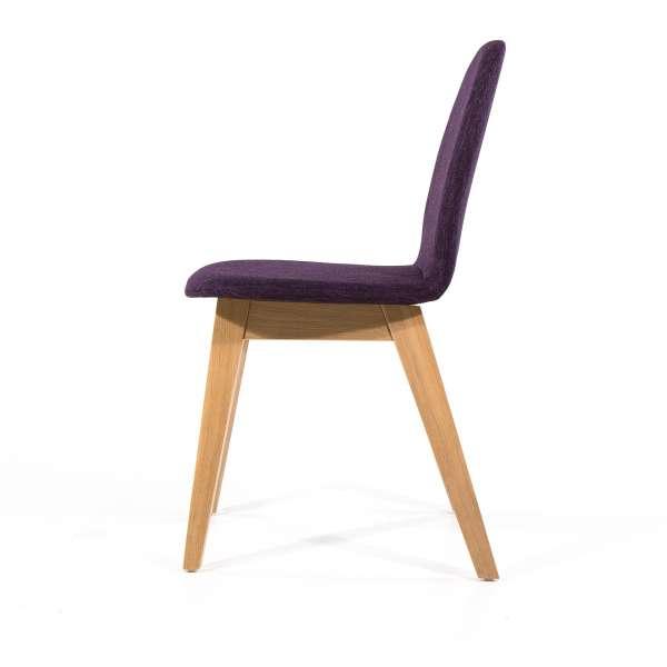 Chaise moderne violette en tissu et bois - Puccini Mobitec® - 4