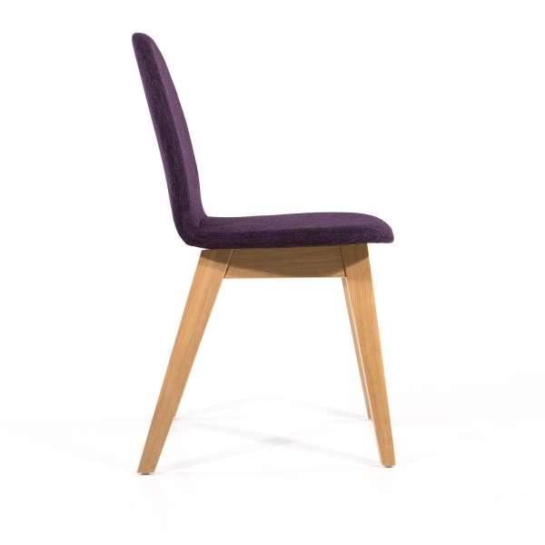 Chaise violette en tissu et pieds en bois massif - Puccini Mobitec® - 5