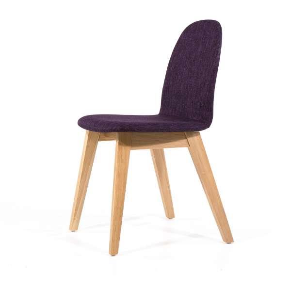 Chaise de séjour violette en tissu avec pieds en bois - Puccini Mobitec® - 6