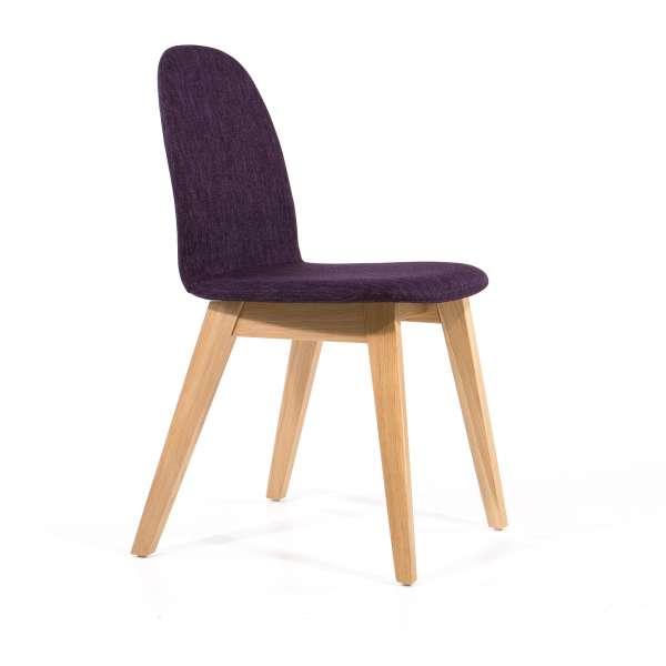 Chaise scandinave avec pieds eb bois et revêtement en tissu - Puccini Mobitec® - 7