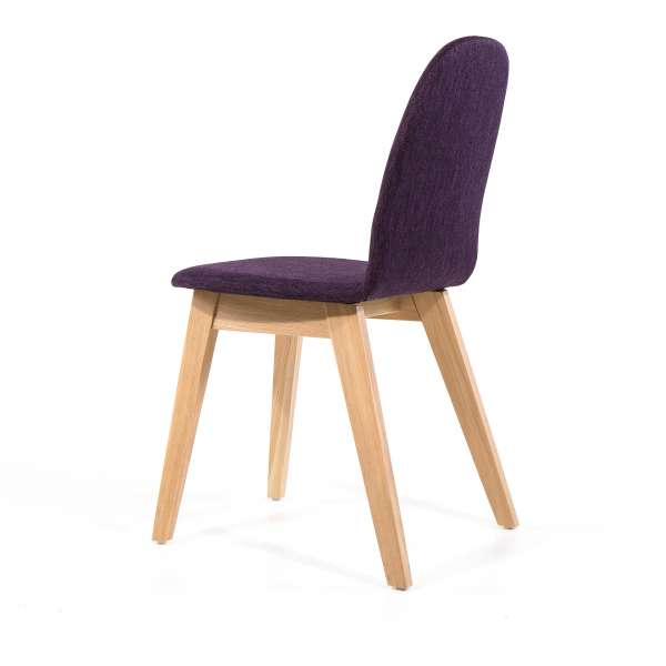 Chaise confortable en tissu violet - Puccini Mobitec® - 8