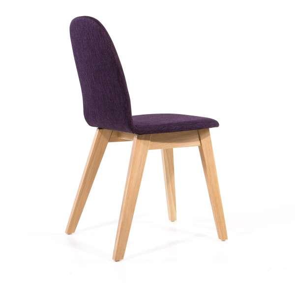 Chaise scandinave Mobitec avec pieds en bois - Puccini  - 9