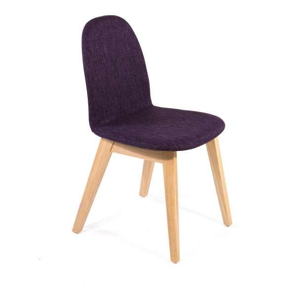 Chaise scandinave en bois et tissu - Puccini Mobitec® - 1