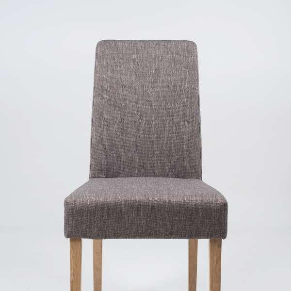 Chaise de séjour en tissu gris et bois massif - Gaby Mobitec® - 2