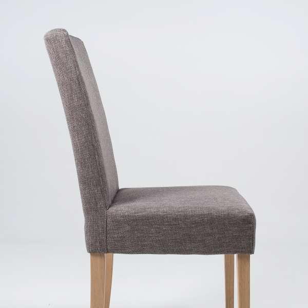 Chaise de salle à manger en tissu gris et chêne massif - Gaby Mobitec® - 3
