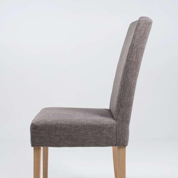 Chaise de séjour en tissu gris et noyer massif - Gaby Mobitec® - 4