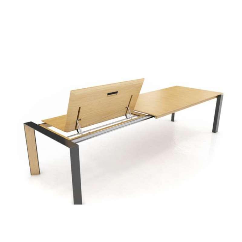 Moderne Massif Et En Oxford Bois Mobitec® Pb3 Table Extensible Métal UpzGqSMV