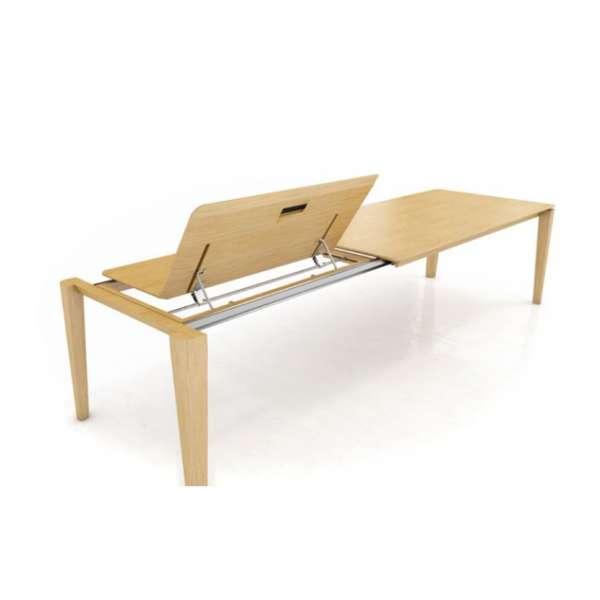 Table avec allonge papillon en bois massif - Oxford Mobitec® - 5