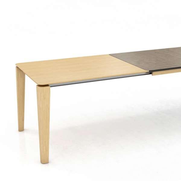 Table contemporaine en céramique avec rallonge en bois massif - Oxford Mobitec® - 2