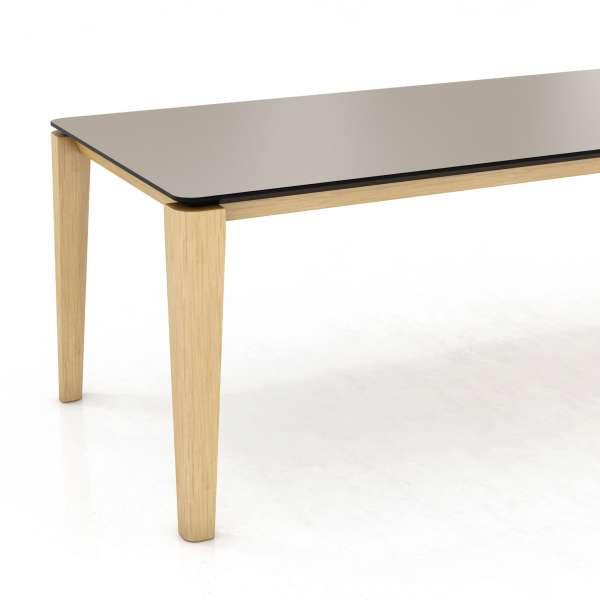 Table avec rallonge papillon et stratifié noir - Oxford Mobitec® - 3