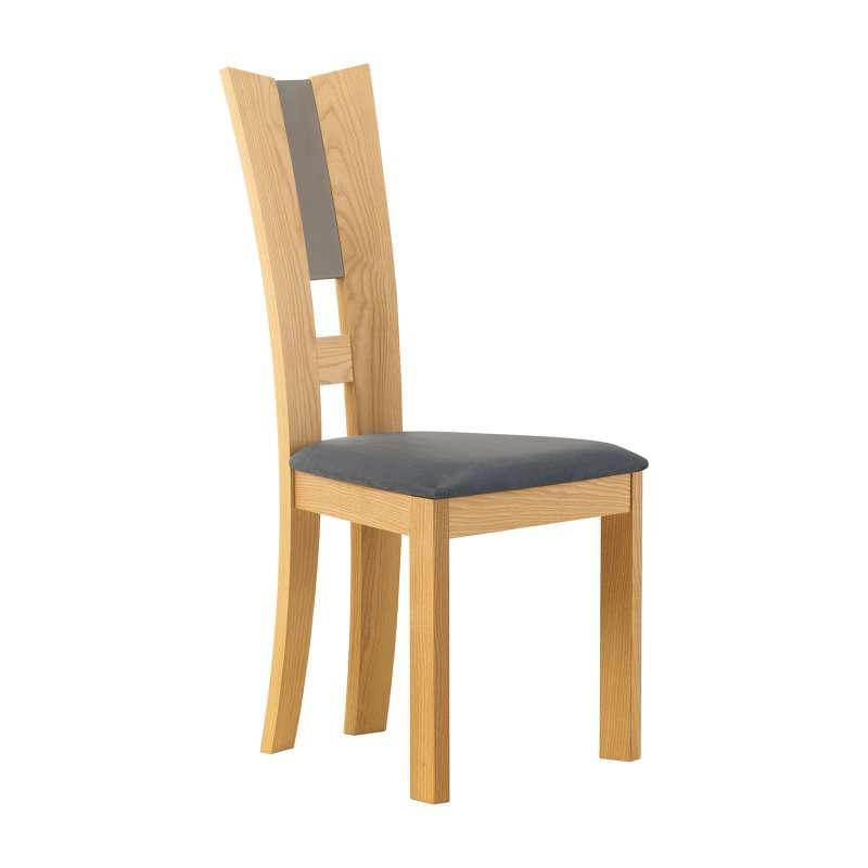 Chaise de salle manger contemporaine fran aise en tissu - Salle a manger en bois ...