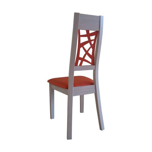 Chaise de salle à manger française orange et bois – Loane 6 - 2
