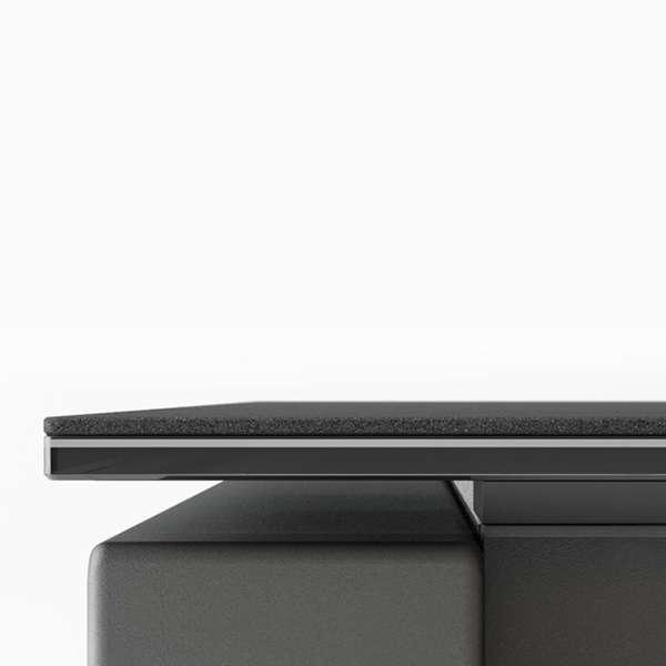 Table moderne rectangulaire en céramique et métal - Kyoto - 5