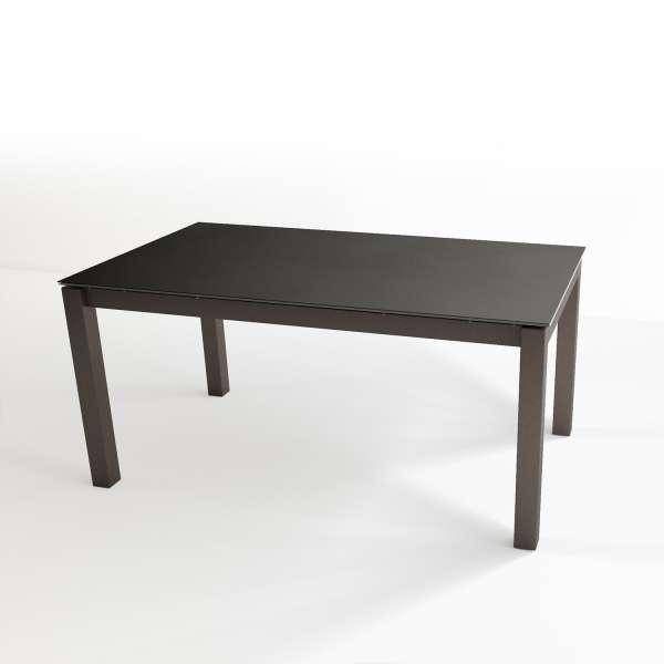 Table contemporaine extensible en céramique Nero et métal noir - Tokio - 5