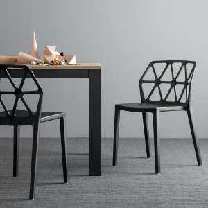 chaise design empilable en plastique polypropylène noir - Alchemia Connubia