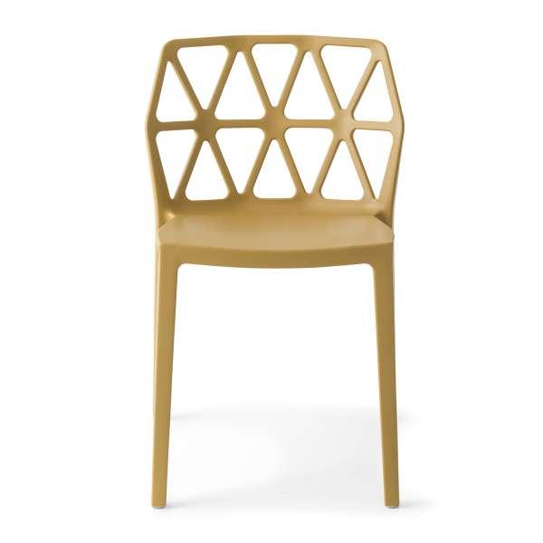 chaise de jardin design empilable en polypropylène moutarde - Alchemia Connubia - 7