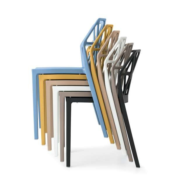 chaise de jardin design empilable en polypropylène - Alchemia Connubia - 10