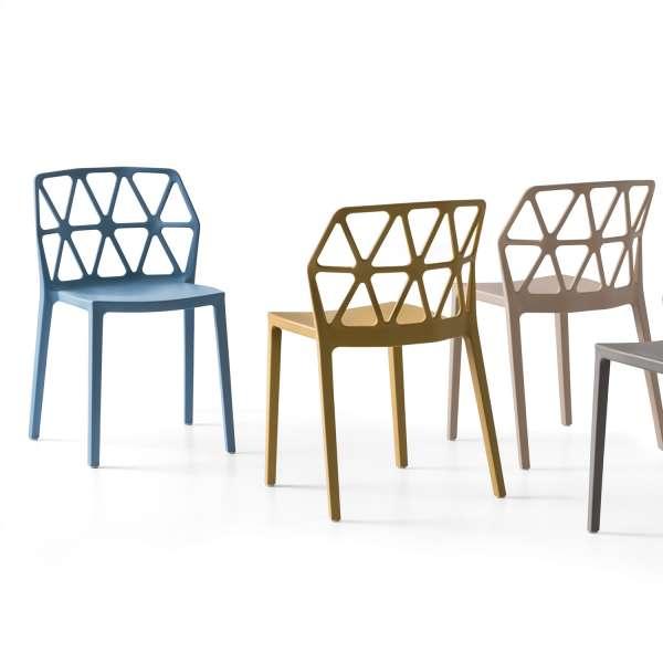 chaise de terrasse design empilable en polypropylène - Alchemia Connubia - 8