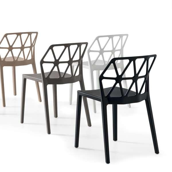 chaise d'extérieur design empilable en polypropylène - Alchemia Connubia - 9