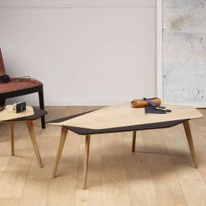 Table basse scandinave en bois massif fabriquée en france - Flo 71
