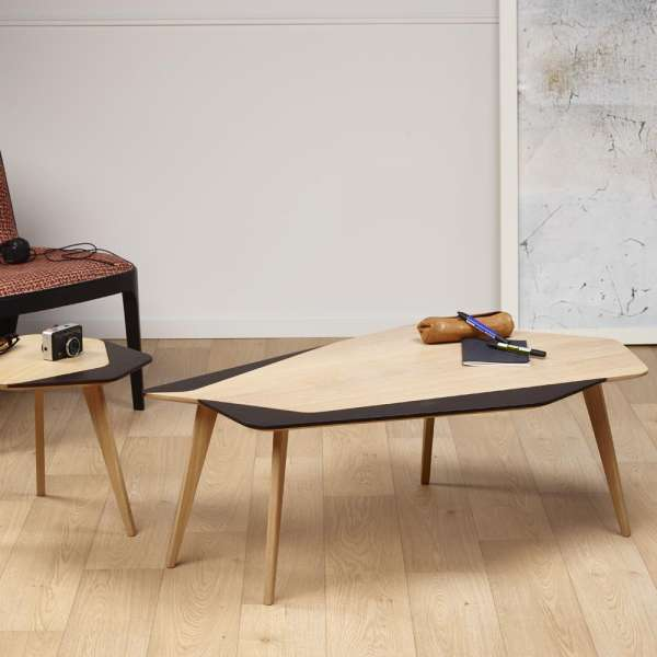 Table Basse Bois Scandinave.Table Basse Scandinave En Bois Massif Fabrication Francaise Flo 71