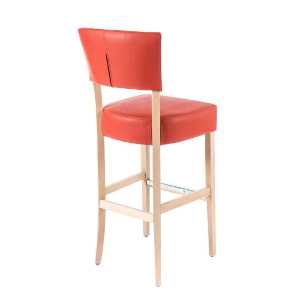 chaise haute matelassé en synthétique et pieds en bois - BarSteffi 2 - 7