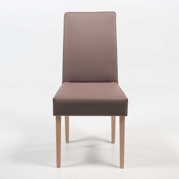 Chaise en synthétique gris et pieds en bois massif - Gaby Mobitec® - 3
