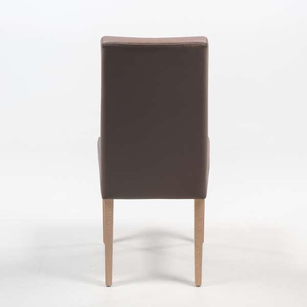 Chaise de séjour en synthétique marron et pieds en bois clair - Gaby Mobitec® - 6