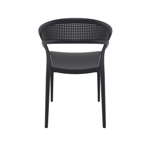 Chaise design empilable en plastique noir - Sunset - 8