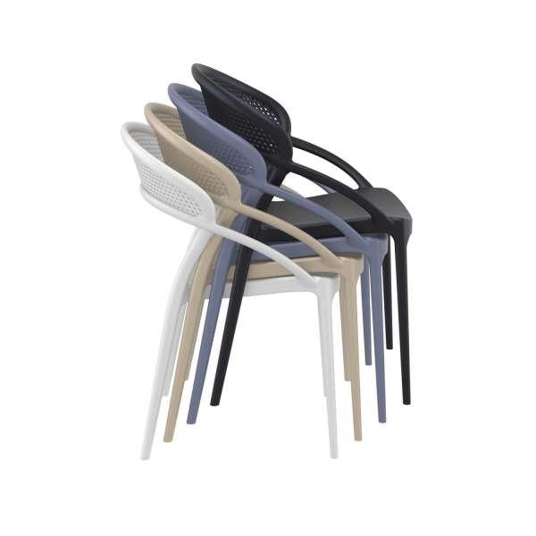 Chaise design empilable en polypropylène - Sunset - 16