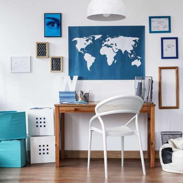 Chaise design empilable en plastique blanc - Sunset - 2