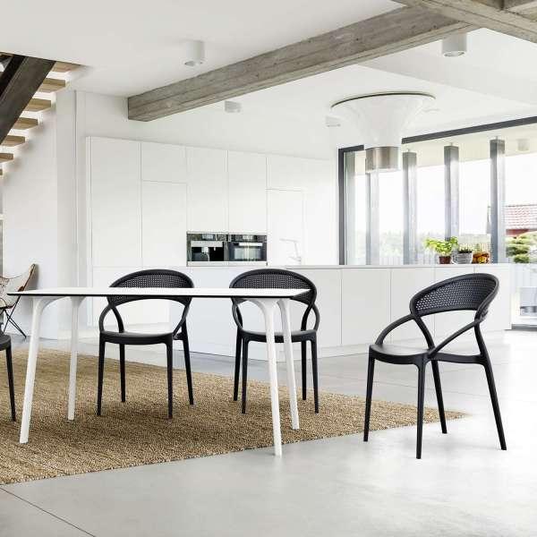 Chaise design empilable en polypropylène - Sunset - 4