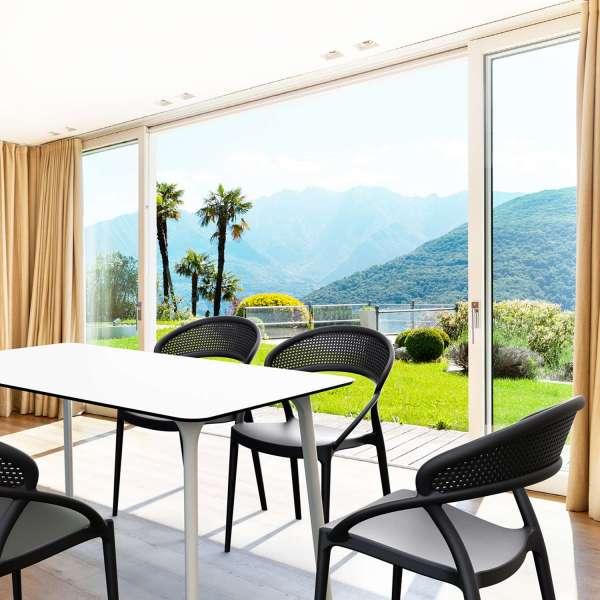 Chaise design empilable en polypropylène noir - Sunset - 5