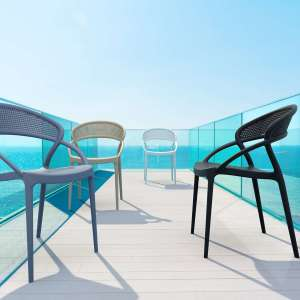 Chaise design de jardin empilable en polypropylène - Sunset