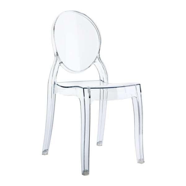 Chaise en plexi transparent pour enfant Elizabeth - 2