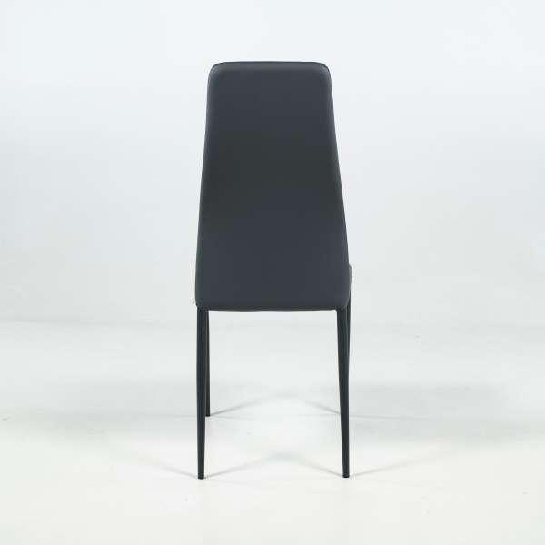 Chaise de salle à manger grise - Mirta - 4