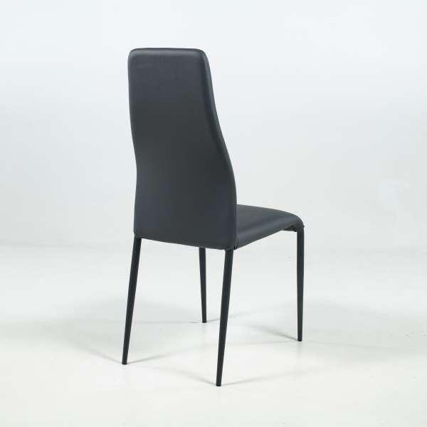 Chaise de salle à manger en synthétique et métal - Mirta - 5