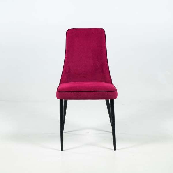Chaise italienne en tissu gamme Mystic et pieds en métal - Nadine - 2