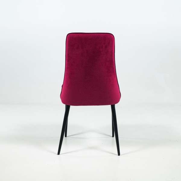 Chaise italienne en tissu et pieds en métal - Nadine - 4