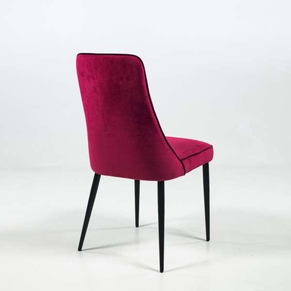 Chaise italienne en tissu et pieds en métal - Nadine - 5