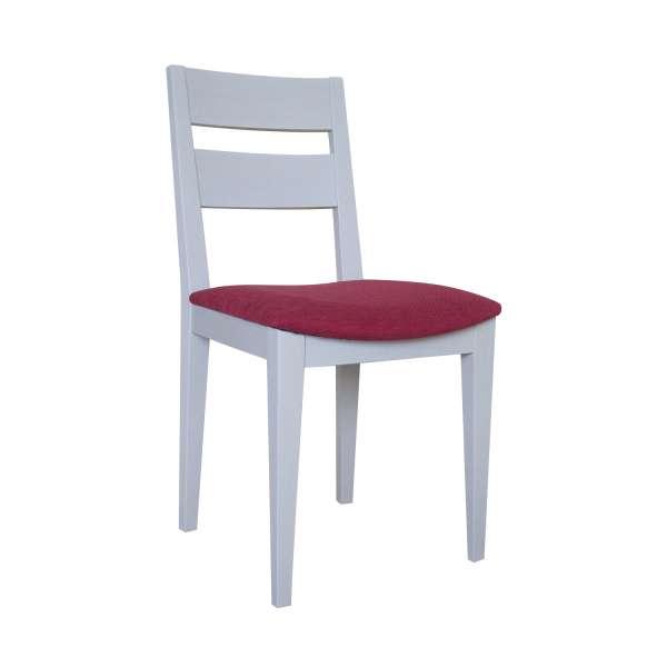 Chaise française de salle à manger en tissu et bois massif - Ophély