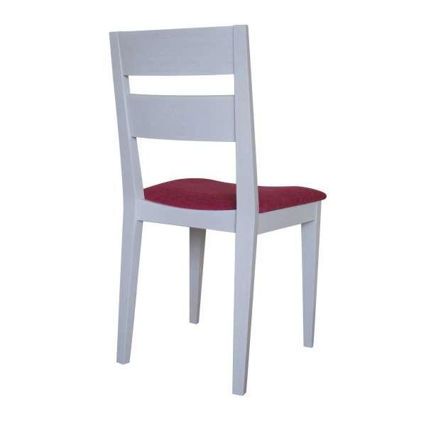 Chaise française de salle à manger en tissu Apolo rose 26 et chêne massif - Ophély - 2