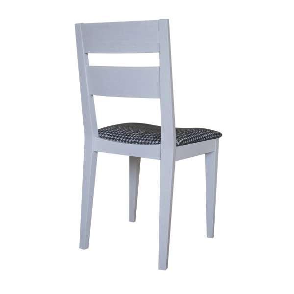 Chaise française de salle à manger en tissu Boston gris 21 et chêne massif - Ophély - 4