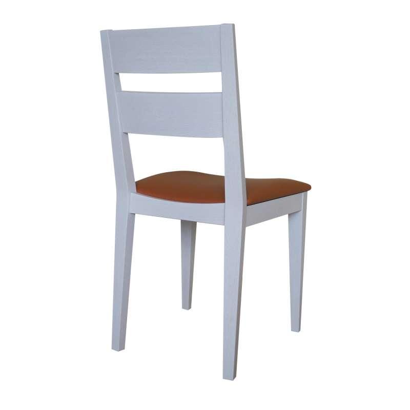 Chaise de salle à manger made in France en synthétique et bois massif Ophély