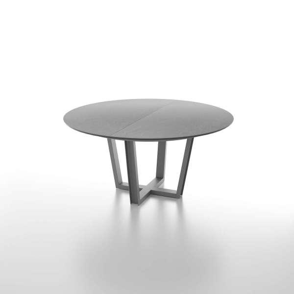 Table extensible ronde en céramique piétement moderne - Viktor - 1